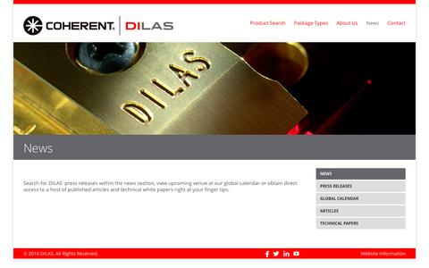 Screenshot of Press Page dilas.com - News - DILAS - captured Dec. 30, 2016