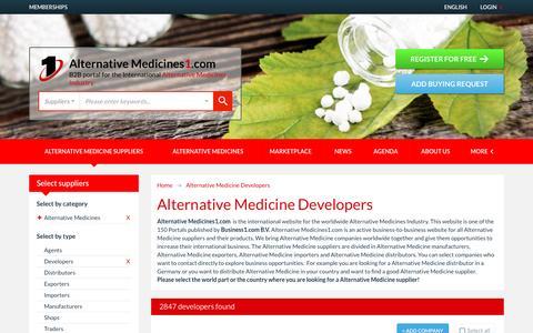 Screenshot of Developers Page alternativemedicines1.com - Alternative Medicine Developers - Alternative Medicines1.com - captured Jan. 9, 2017