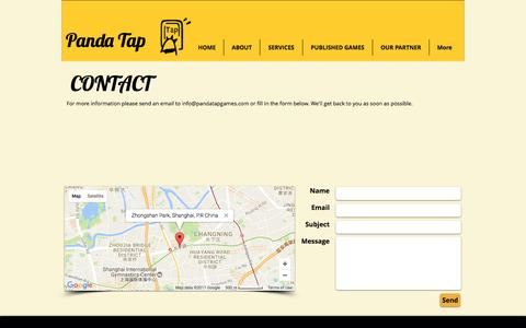 Screenshot of Contact Page pandatapgames.com - Top Online And Mobile Game Fun - captured May 14, 2017