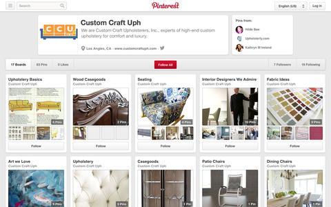 Screenshot of Pinterest Page pinterest.com - Custom Craft Uph on Pinterest - captured Oct. 23, 2014
