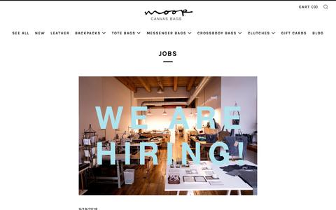 Screenshot of Jobs Page moopshop.com - jobs – Moop - captured Sept. 22, 2018