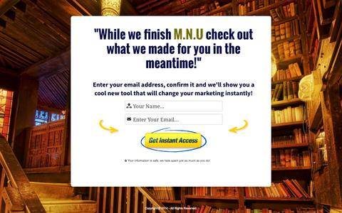 Screenshot of Home Page marketingandnetworkinguniversity.com - Marketing & Networking University - captured Sept. 19, 2014