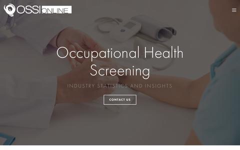 Screenshot of Blog ossionline.com - OSSI Online | Occupational Screening Soultion - captured Oct. 19, 2018