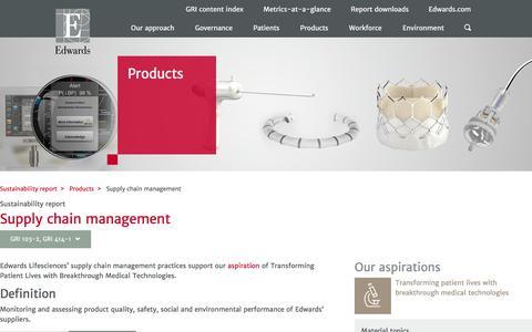 Supply chain management – Edwards – Sustainability