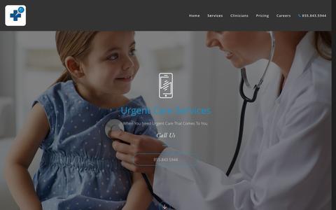 Screenshot of Services Page er-direct.com - Mobile Urgent Care — ER Direct - captured July 10, 2016