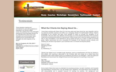 Screenshot of Testimonials Page 3fcoaching.com - 3F Testimonials - captured Sept. 26, 2014