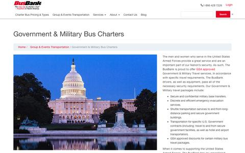 Government & Military Bus Charters | BusBank