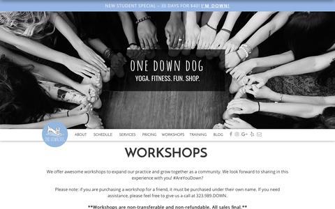 Screenshot of Signup Page onedowndog.com - One Down Dog | Yoga Workshops - One Down Dog | Silver Lake, CA - captured June 18, 2017