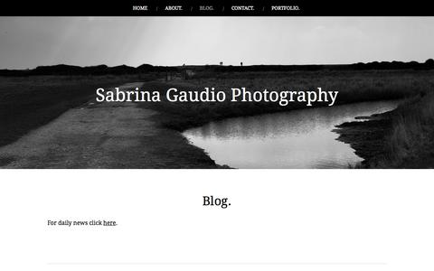 Screenshot of Blog sabrinagaudio.com - Blog. | Sabrina Gaudio Photography - captured Oct. 27, 2014