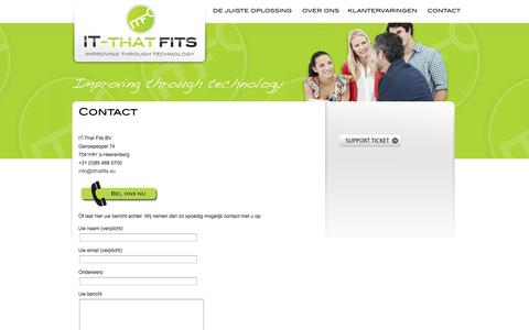 Screenshot of Contact Page itthatfits.eu - Contact IT-That Fits - captured Sept. 30, 2014