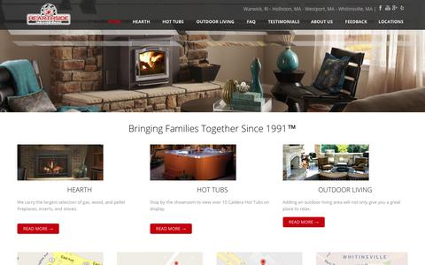 Screenshot of Home Page hearthsidepatio.com - Southern NE Largest Hearth Retailer - captured July 8, 2018