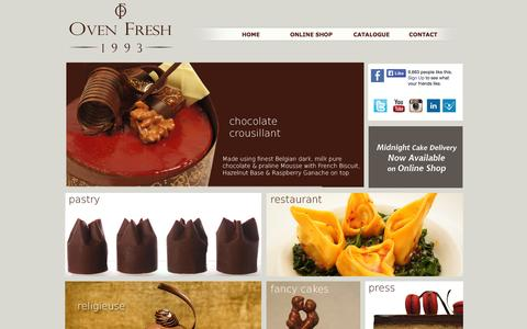 Screenshot of Home Page ovenfresh.in - Best Cake Shop in Mumbai | Order Cake Online Mumbai | Online Cake Delivery in Mumbai |OVENFRESH.COM - captured Jan. 27, 2015