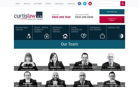 Screenshot of Team Page curtislaw.co.uk - Staff Members At Curtis Law - Employment Law Firm - captured Feb. 2, 2016