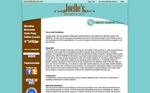 Screenshot of Terms Page joellesdesserts.com - Terms - captured Sept. 30, 2014