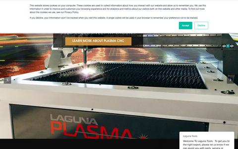Screenshot of Home Page lagunatools.com - Laguna Tools Home - captured Feb. 5, 2019