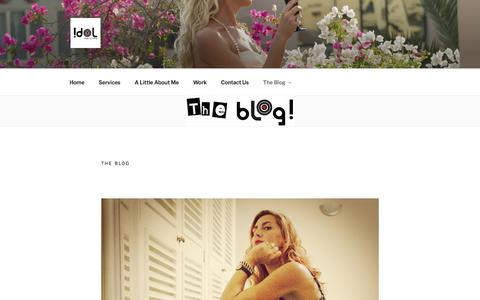Screenshot of About Page idol-image.com - The Blog - captured Nov. 5, 2019