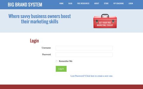 Screenshot of Login Page bigbrandsystem.com - Login - Big Brand System - - captured Jan. 3, 2016