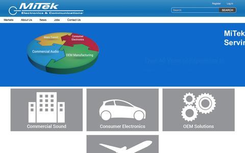 Screenshot of Home Page mitekusa.com - MiTek Corporation - captured March 13, 2017