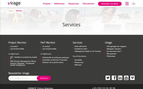 Screenshot of Services Page viragegroup.com - Services - Virage Group - captured Nov. 15, 2018