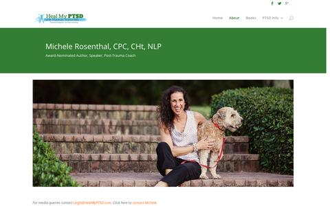 Screenshot of About Page healmyptsd.com - About Michele Rosenthal | Heal My PTSD - captured Jan. 27, 2016