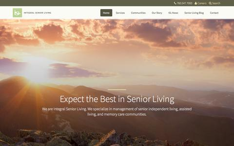 Screenshot of Home Page islllc.com - Integral Senior Living - Expect the Best in Senior Living - captured Sept. 28, 2017