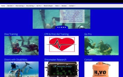 Screenshot of Home Page nodivenolife.com - No Dive, No Life - captured Aug. 4, 2015