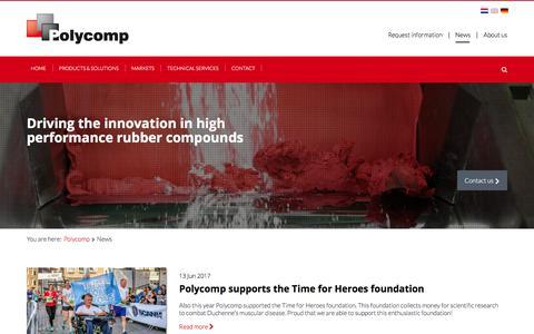 Screenshot of Press Page polycomp.nl - News - Polycomp - captured Aug. 12, 2017