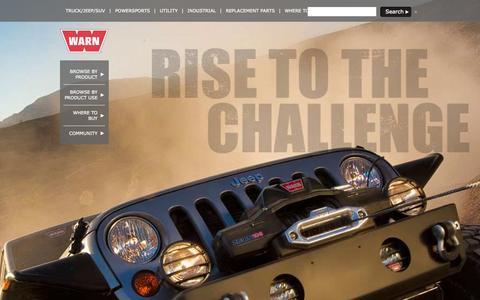 Screenshot of Home Page warn.com - WARN Industries, Inc. - captured Sept. 23, 2014