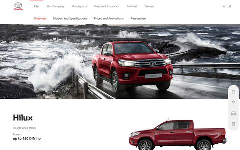 Hilux Overview & Features | Diesel - Toyota Europe