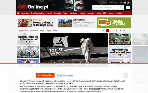 Screenshot of Home Page gry-online.pl - GRY-OnLine.pl - Gry Online dla wszystkich, Gry Komputerowe, Gry na Konsole, Darmowe Gry - wszystko o grach - captured May 18, 2019