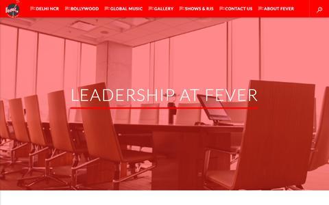 Screenshot of Team Page fever.fm - Leadership at Fever – Fever FM - captured Oct. 10, 2018