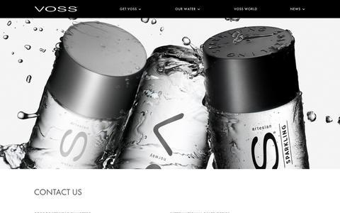 Screenshot of Contact Page vosswater.com - CONTACT US | Voss Water - captured June 29, 2017