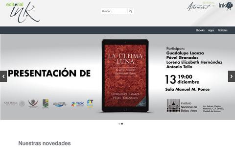 Screenshot of Home Page editorial-ink.com - Editorial Ink | Libros interactivos - captured Dec. 27, 2016