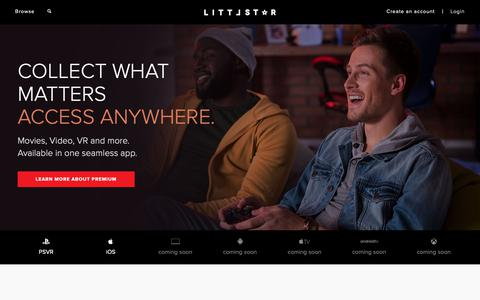 Screenshot of Home Page littlstar.com - Littlstar - The World Revolves Around You - captured Feb. 15, 2019