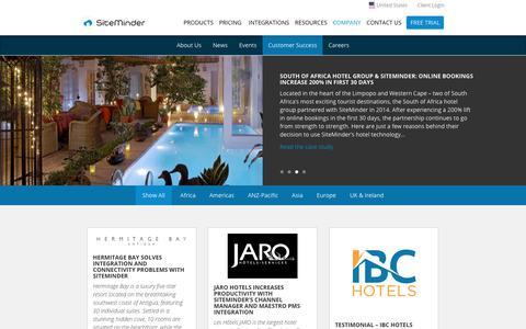 Screenshot of Testimonials Page siteminder.com - Customer Success - SiteMinder - captured Aug. 16, 2017