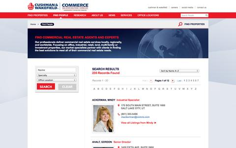 Screenshot of Team Page comre.com - Find Commercial Real Estate Experts and Agents | Commerce - captured Sept. 23, 2014