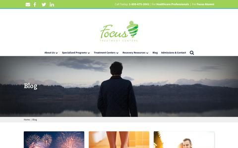 Screenshot of Blog focustreatmentcenters.com - Blog   Focus Treatment Centers - captured Aug. 18, 2018
