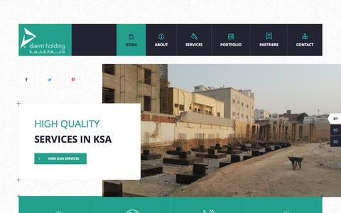 Screenshot of Home Page daemholding.com - Daem Holding - captured July 31, 2016