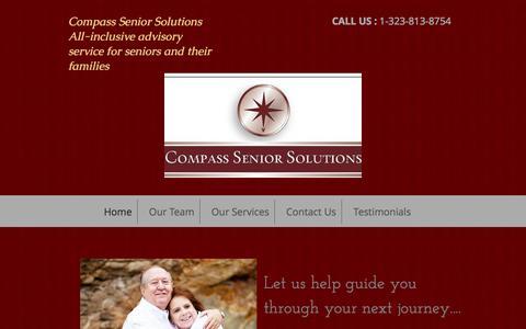 Screenshot of Home Page compassseniorsolutions.com - Compass Senior Solutions- Senior Living and Assisted Living Services - captured Sept. 30, 2014