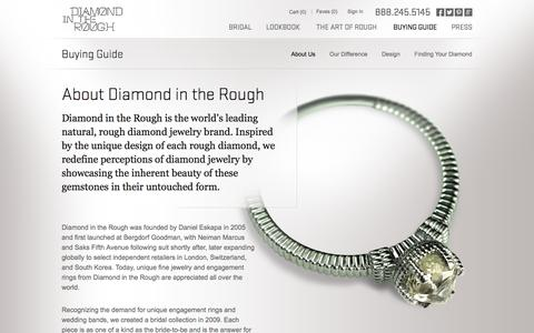 Screenshot of About Page diamondintherough.com - About - Buying Guide | Diamond in the Rough - captured Oct. 5, 2014