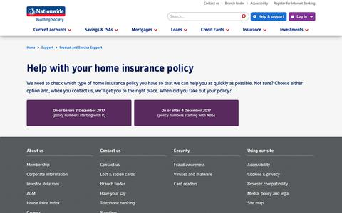 Home Insurance support | Nationwide