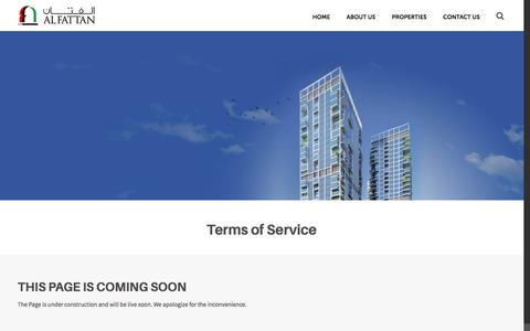 Screenshot of Terms Page alfattan.ae - Terms of Service – Al Fattan - captured Oct. 7, 2017