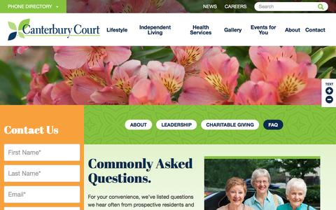 Screenshot of FAQ Page canterburycourt.org - Frequently Asked Questions | Canterbury Court | Atlanta, GA - captured May 14, 2017