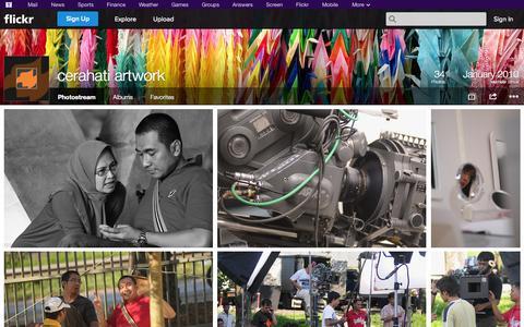 Screenshot of Flickr Page flickr.com - Flickr: cerahati artwork's Photostream - captured Oct. 22, 2014