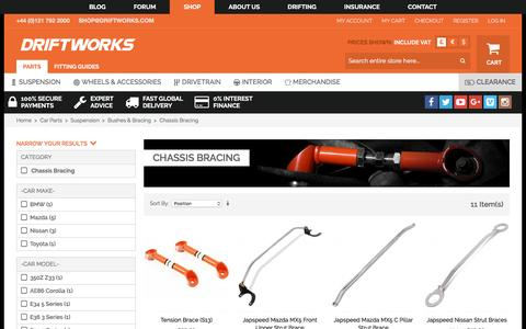 Screenshot of driftworks.com - Chassis Bracing by Driftworks.com, the Chassis Bracing experts. - captured March 25, 2017
