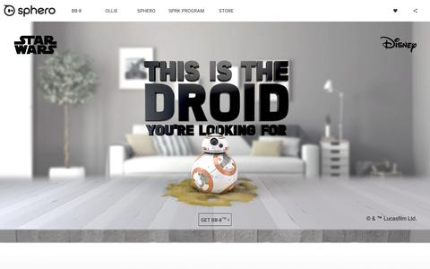 Screenshot of Home Page sphero.com - Sphero | Connected Toys - captured Nov. 17, 2015