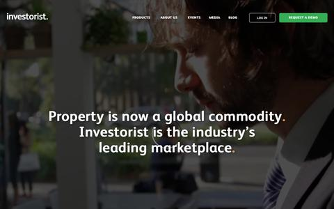 Screenshot of Home Page investorist.com - Home — Investorist - captured Jan. 12, 2018