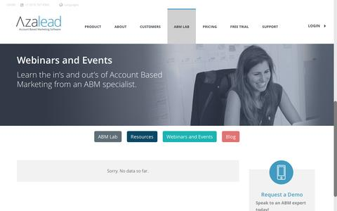 Webinars & Events - Azalead Software