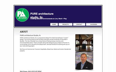 Screenshot of About Page pure-arch.com - About Pure Architecture Studio - captured Feb. 14, 2018