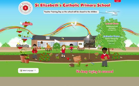 Screenshot of Home Page st-elizabeths.coventry.sch.uk - Home | St Elizabeth's Catholic Primary School - captured Oct. 10, 2015